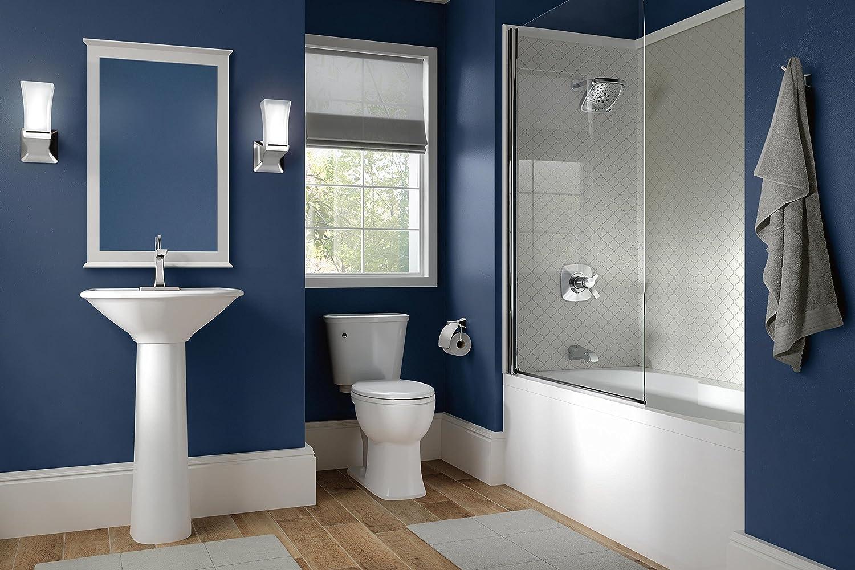 DELTA FAUCET 552LF-PNMPU Tesla Single Handle Bathroom Faucet Metal ...