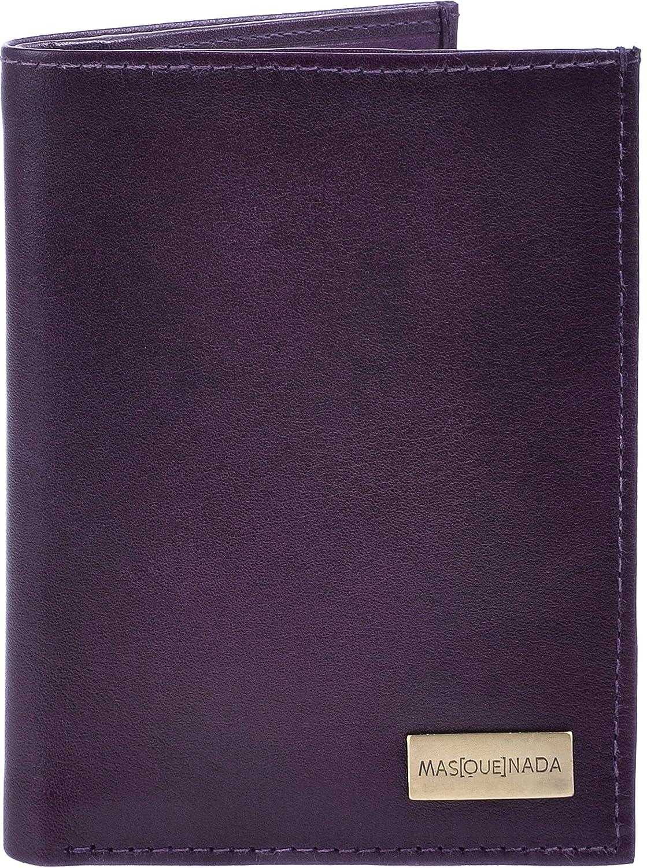 MASQUENADA, Adult Purses, Wallets, Genuine Leather Purple 9,5x12,5x1 (W x H x D)