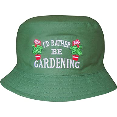 Men\'s Outdoors Green Bucket Style Novelty I\'d Rather Be Gardening ...