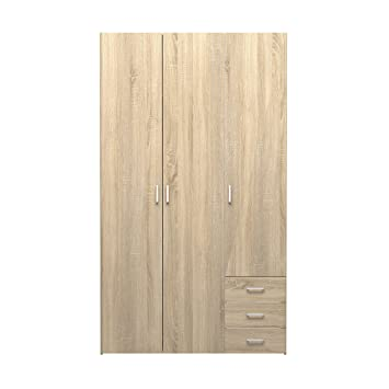 Tvilum 70409akak Space 3 Drawer & 3 Door Wardrobe Oak Structure by Tvilum