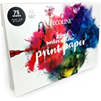 Royal Talens – A4 Ecoline Liquid Watercolour Print Paper – 75 Sheets – 150gsm