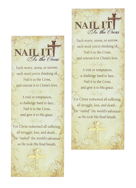 Set of 2 Christian Brands Gold-Tone Cross Pin and Bookmark Bundles ...