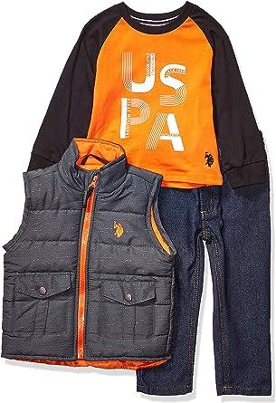 Boys T-Shirt Vest and Pant Set Polo Assn U.S