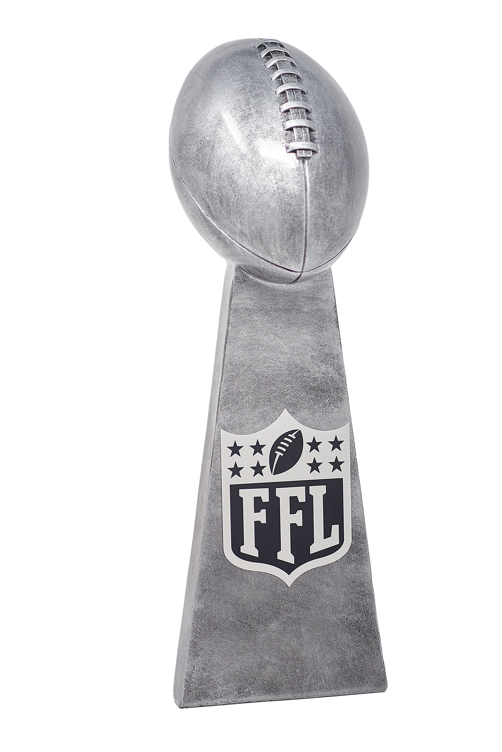 Fantasy Bros Ultimate Fantasy Football Trophy By Fantasy League Winner's Cup Lombardi Trophy Elegant & Durable Design | Gold/Silver (Silver, 14.5 Inch) by Fantasy Bros