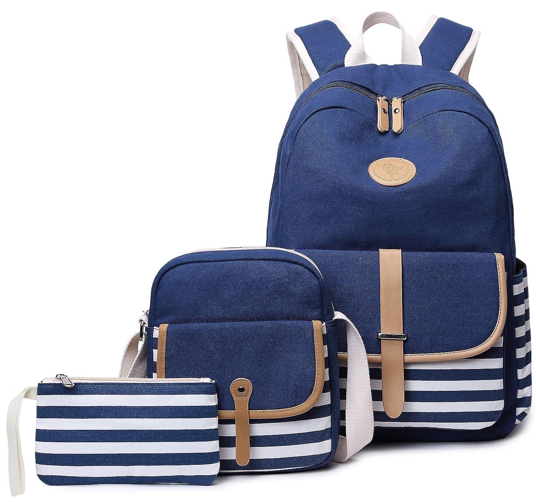 0e69112bb Amazon.com: School Backpack for Girls, Gazigo Womens High School College  Bookbags Laptop Bag (Blue): Gazigo US