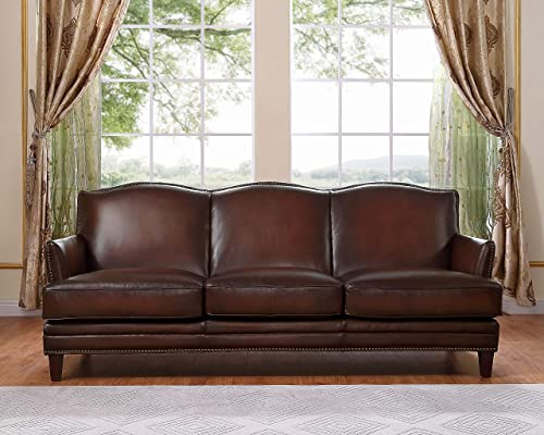 Hydeline Oxford 100 Leather Sofa, Brown