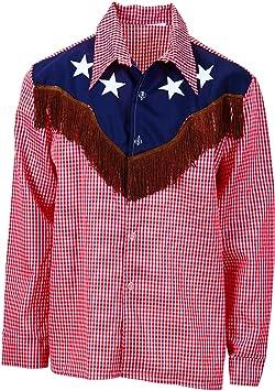 WIDMANN wdm1574u ? Disfraz para adultos Camisa Rodeo Vaquero, rojo, XL: Amazon.es: Juguetes y juegos