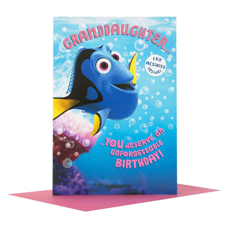 Medium Hallmark Finding Dory Birthday Card /'Fun Activity/' Grandson