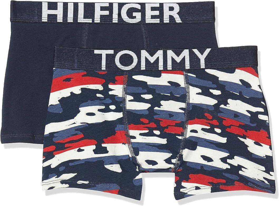 Tommy Hilfiger 2p Trunk Camo Stripe Bañador, Multicolor (Multi 034), Talla única (Talla del Fabricante: 12-14) (Pack de 2) para Niños: Amazon.es: Ropa y accesorios