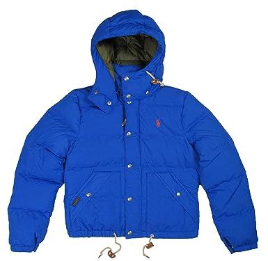 8cf3e3d8c505 Amazon.com  Ralph Lauren Polo Womens Hooded Down Jacket Pony Logo Puffer   Clothing