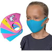 BEOLA Washable Face Kids Mask Non Medical For Children Bella Reusable Boys Girls(6 pcs multicolor)