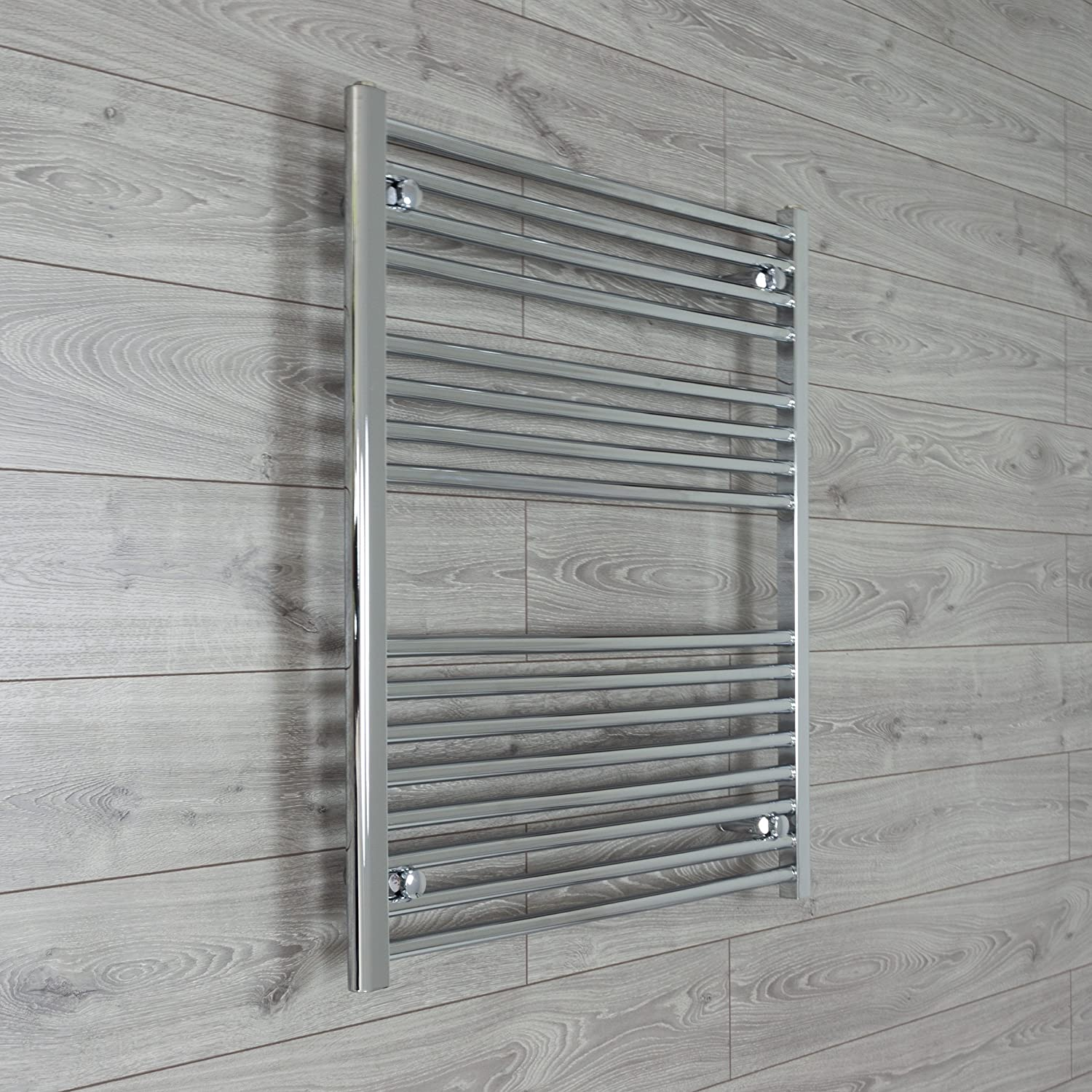 800mm Wide Chrome Heated Towel Rail Radiator Flat/Straight Ladder for Stylish Bathroom (800 x 400 mm) CBRAD