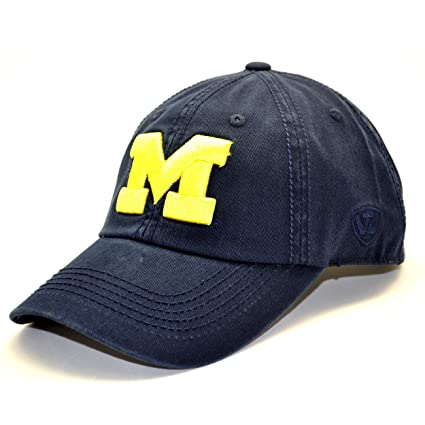 san francisco e9aee 96d75 NCAA Michigan Crew Adjustable Hat, Navy