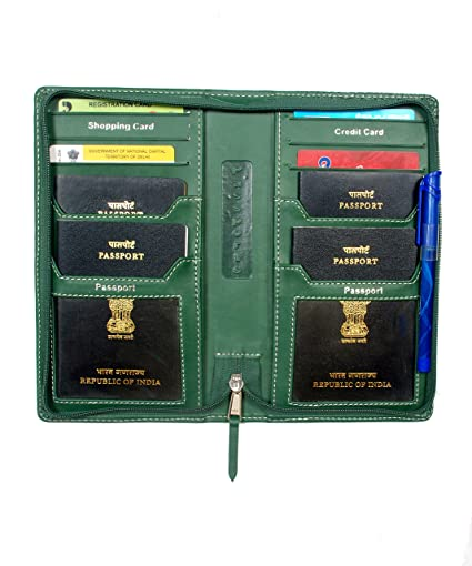 c0330c57f Sukeshcraft PU Viscose 2Gether Passport Holder (Green)  Sanjeev k bhardwaj   Amazon.in  Bags
