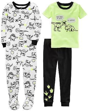 95bb8404629d Amazon.com  Carter s Boys  3-Piece Cotton Pajama Set  Clothing