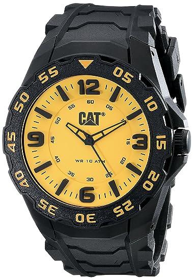 Caterpillar LB11121731 - Reloj para Hombres, Correa de Goma Color Negro: Amazon.es: Relojes