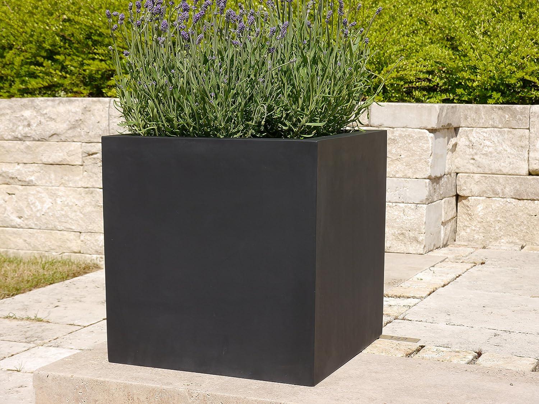 pflanzk bel der bundesgartenschau l60x b60x h60cm aus fiberglas in schwarz anthrazit. Black Bedroom Furniture Sets. Home Design Ideas