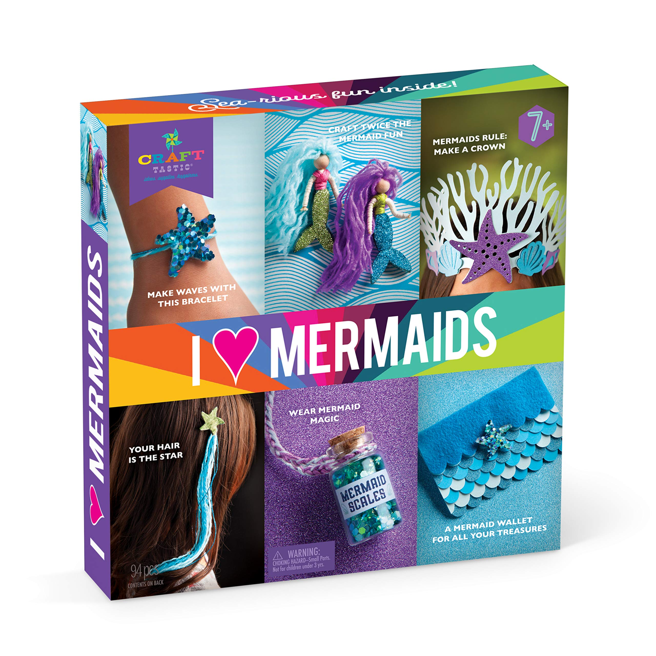 Craft-tastic - I Love Mermaids Kit - Craft Kit Includes 6 Mermaid-Themed Projects by Craft-tastic