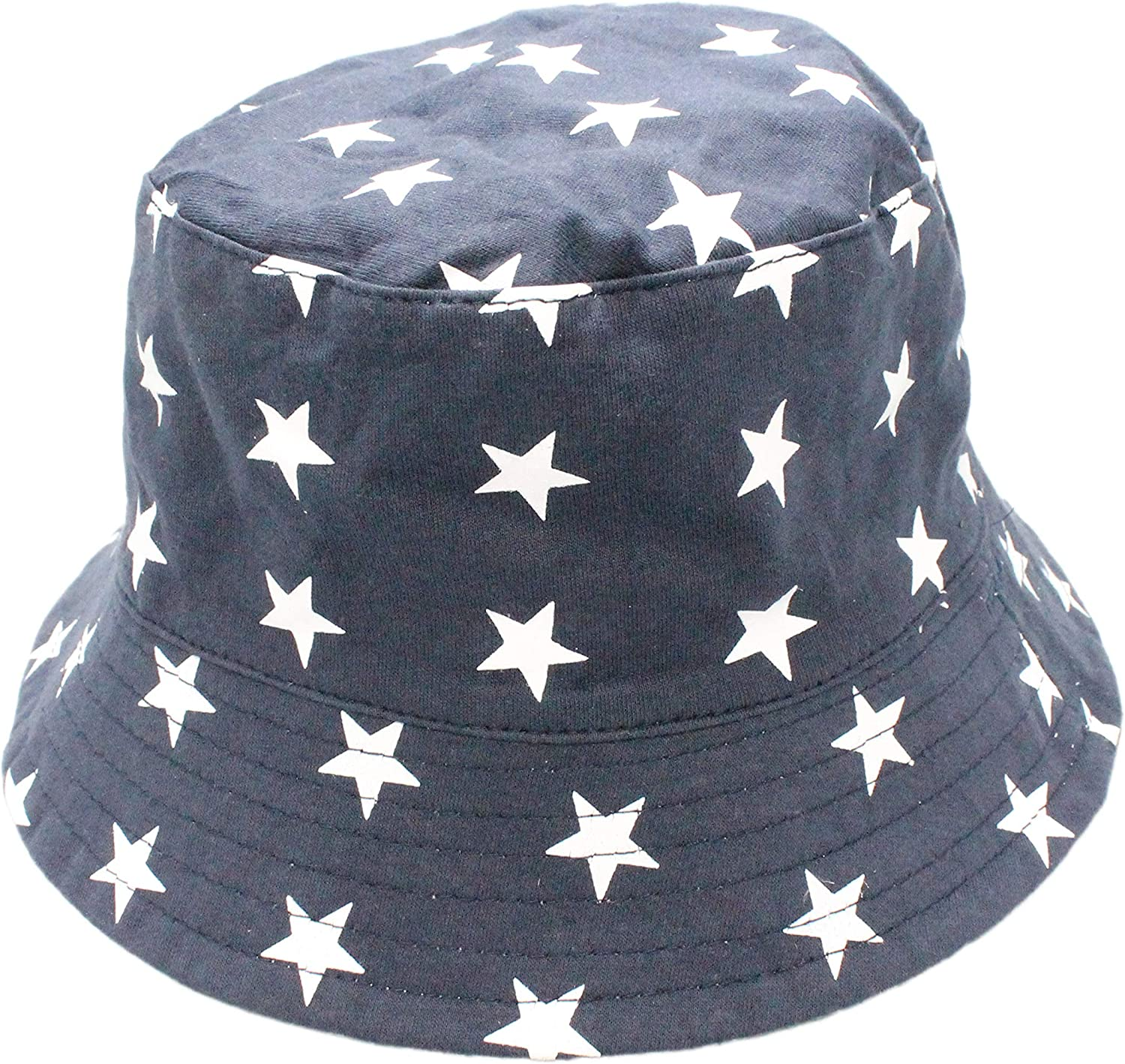 Colourful Baby World Kids Boys Girls Summer Stars Sailor Reversible Bucket Sun Hat Cap Age 2 3 4