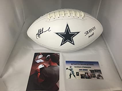 910d3a75f3c Image Unavailable. Image not available for. Color  Troy Aikman Autographed  ...