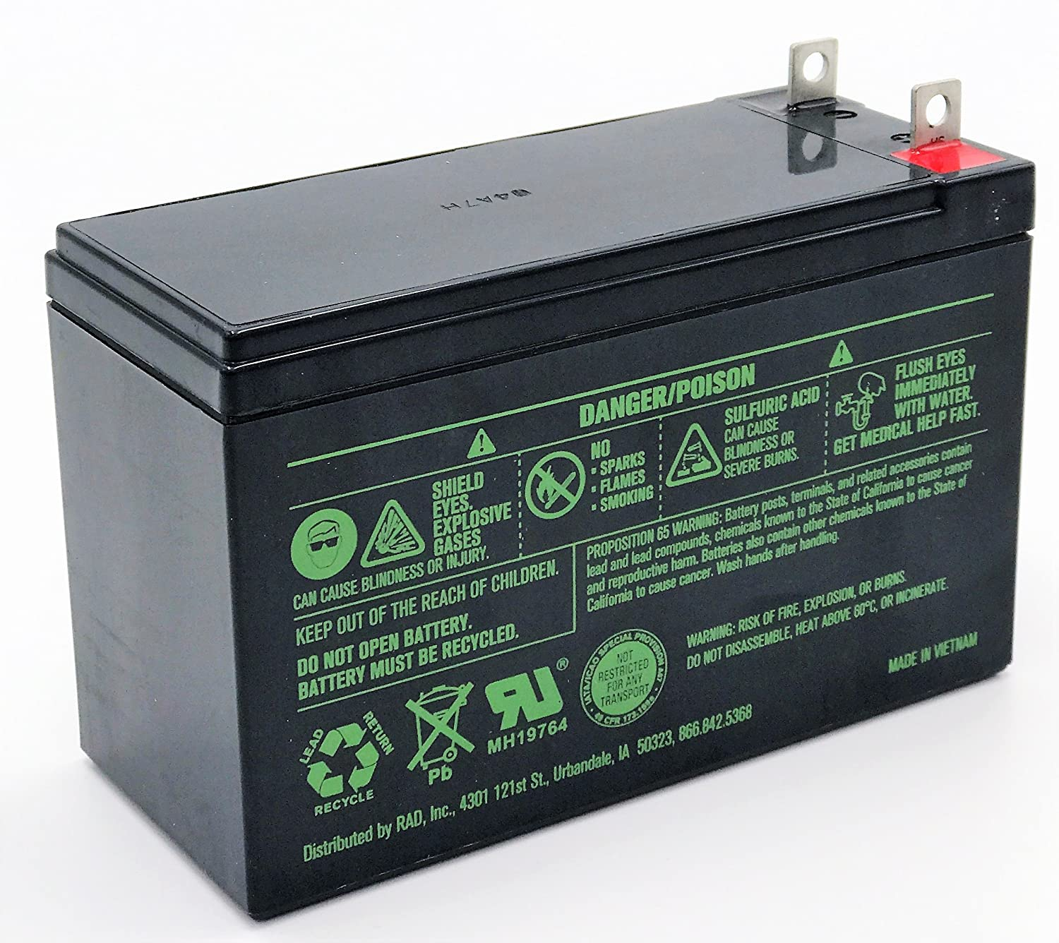 Replacement Battery for Generac 0G9449 Generator Battery with 1//4 Nut and Bolt Terminals