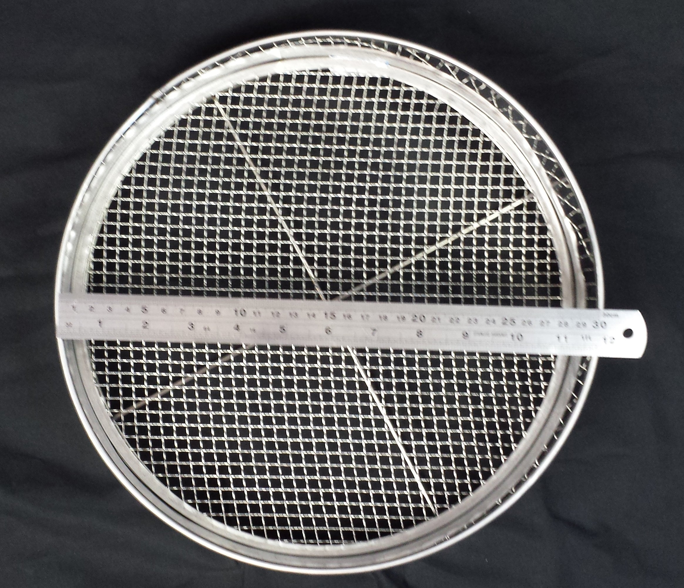 Practicool Garden Potting Mesh Sieve - Sifting Pan - Stainless Steel Riddle - Mix Soil Filter - with 4 Interchangeable Mesh Sizes - 3, 6, 9, 12mm by Practicool Products