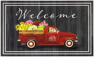 product image for Apache Mills BLFL Fashionables Deluxe Welcome Flower Garden & Truck Door Mat, 18-Inch X 30-Inch, Charcoal