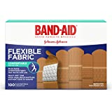 Band-Aid Brand Flexible Fabric Adhesive Bandages For Minor Wound Care, Assorted Sizes, 100 Count