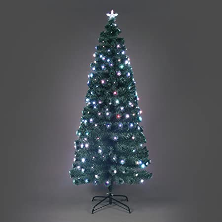 Snowtime 4ft Nebula Fibre Optic Pre Lit Christmas Tree Amazon Co Uk