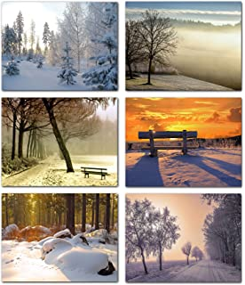 Amazon winter scenes blank note cards greeting cards with beautiful winter scenes blank note cards greeting cards with envelopes 6 unique designs m4hsunfo
