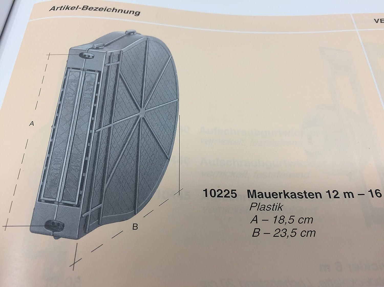 Mauerkasten f/ür Rolladengurt Unterputz Gurtwickler PROFIWARE Gurtkasten Rolladen 10060 10,5x16,5