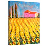 Art Wall Cypress and Sunflowers at Vall De Lot