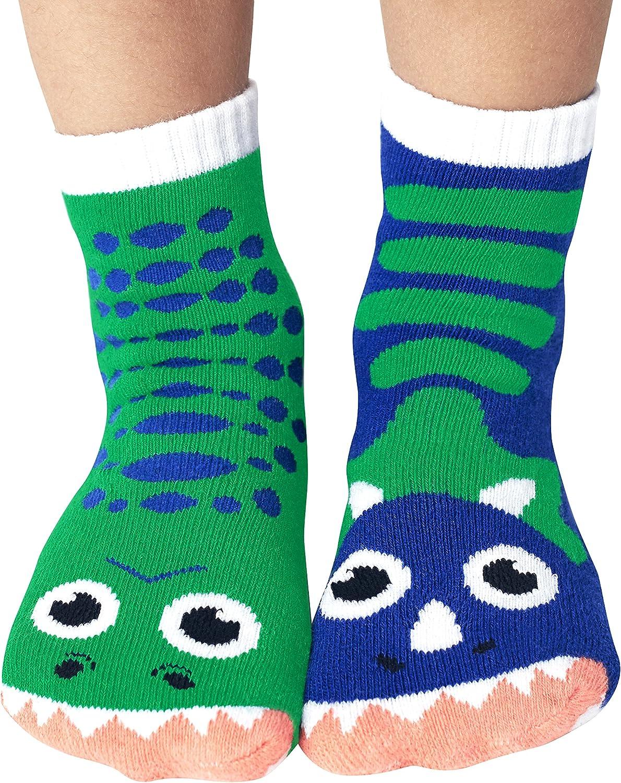Monkey /& Parrot Mismatched Kids Socks Pack Ages 1-3 Dragon /& Unicorn Cow /& Pig