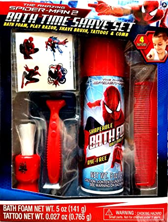 Spider Man 2 Bath Time Shaving Set. Amazon com  Spider Man 2 Bath Time Shaving Set  Toys  amp  Games