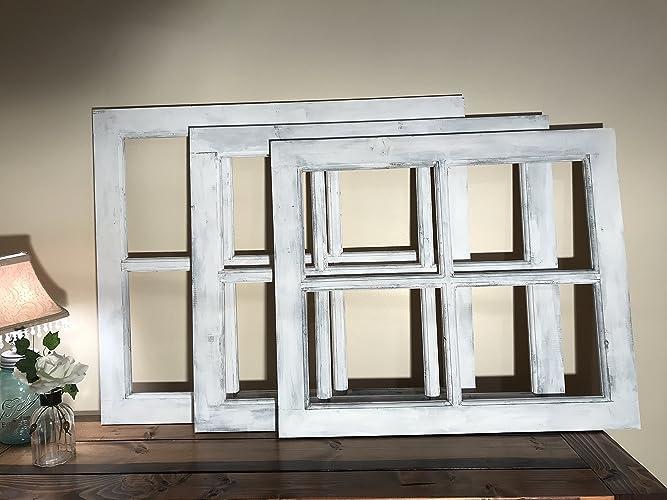 Window Frame | 4 Pane or 6 Pane Vintage Farmhouse Window Pane & Amazon.com: Window Frame | 4 Pane or 6 Pane Vintage Farmhouse Window ...
