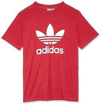 adidas Trefoil tee Camiseta, Mujer, Rojo, 48: Amazon.es: Deportes y aire libre