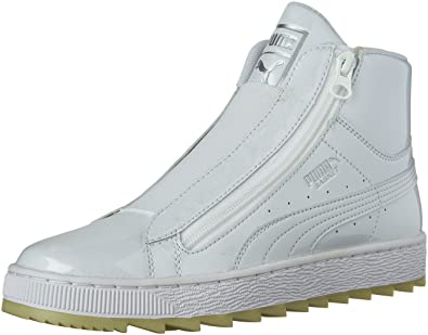 Buy Puma Womens Basket Mid WTR Fashion Shoes Puma White