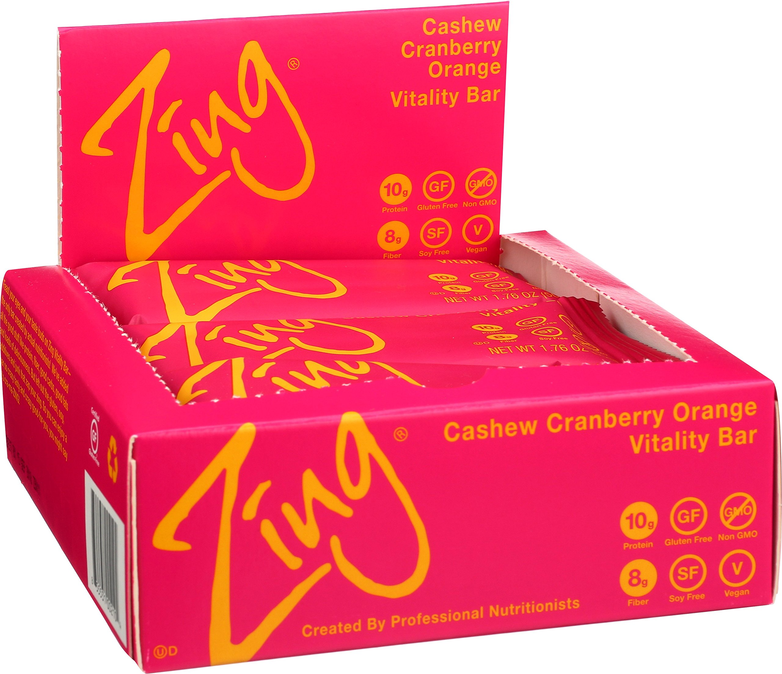 Zing Nutrition Bar, Cashew Cranberry Orange, (Pack of 12), Non-GMO Snack Bar for Optimum Energy, Gluten & Soy Free, Plant-Based Protein by Zing Bars (Image #3)