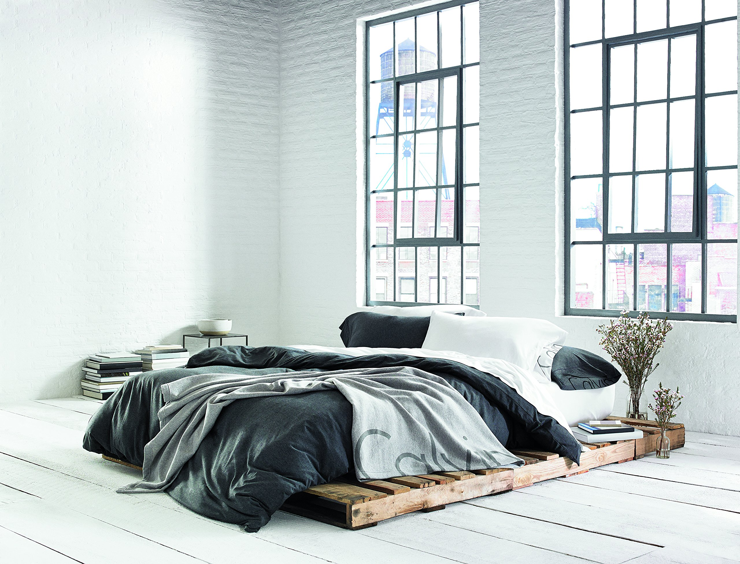 Calvin Klein Home Modern Cotton Body Duvet Cover, King, Charcoal by Calvin Klein (Image #6)