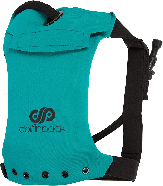 Teal Black One Size DolfinPack Lightweight, FormFitting, Waterproof, Extreme Sports Hydration Pack