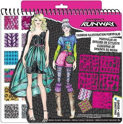 Amazon Com Project Runway Fashion Design Sketch Portfolio Limited Release Toys Games