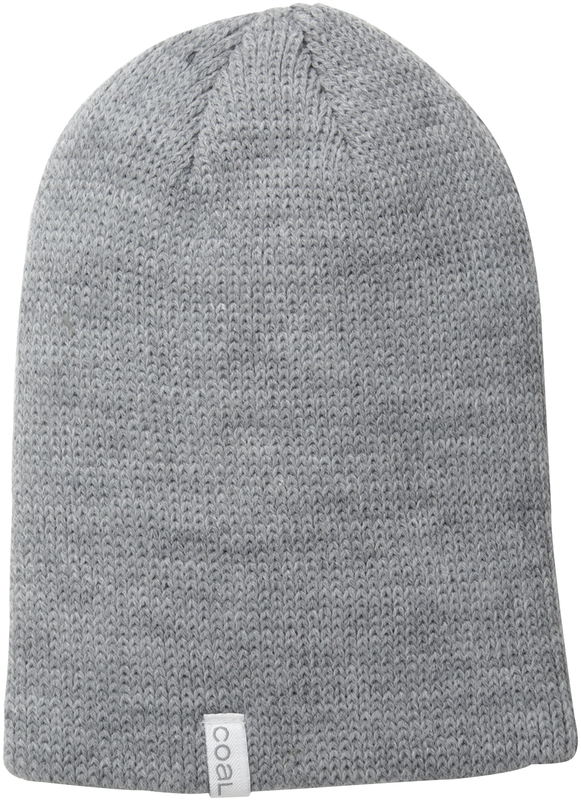 Coal The Frena Solid Fine Knit Beanie Hat,Heather Grey,One Size