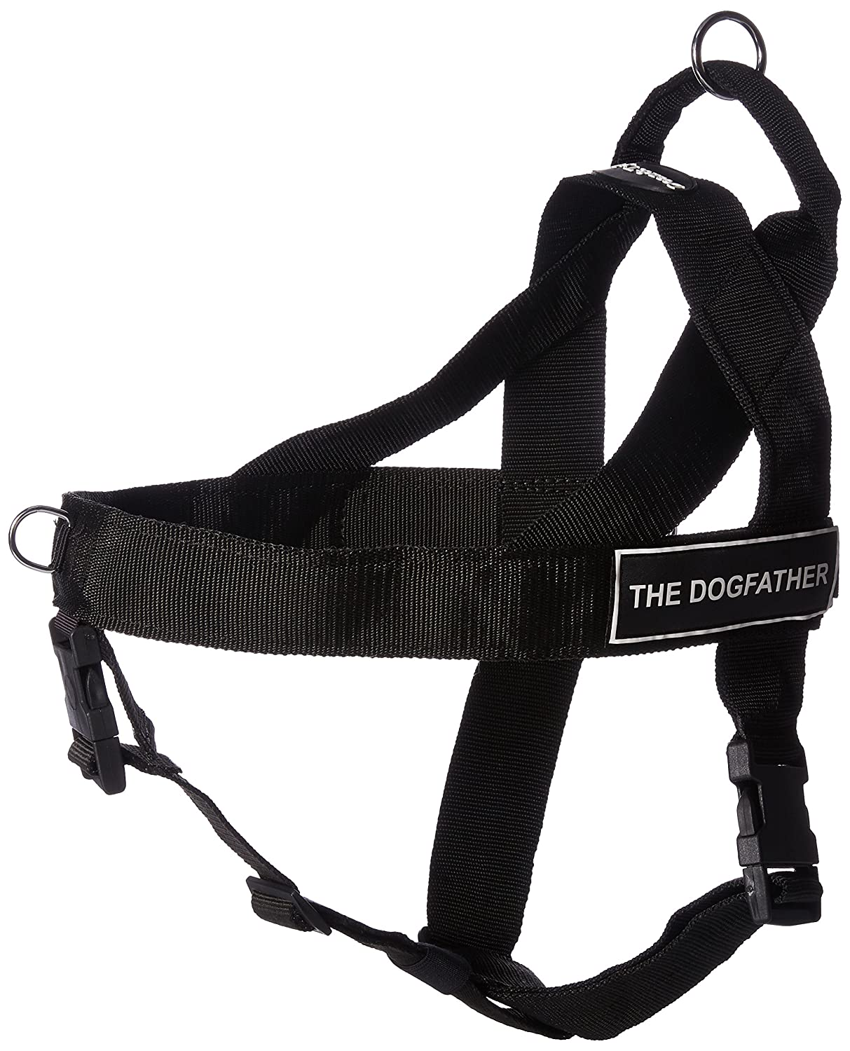 DT Universal Fun No Pull Dog Harness, The Dogfather, Black, X-Large, Fits Girth Size  36-Inch to 47-Inch