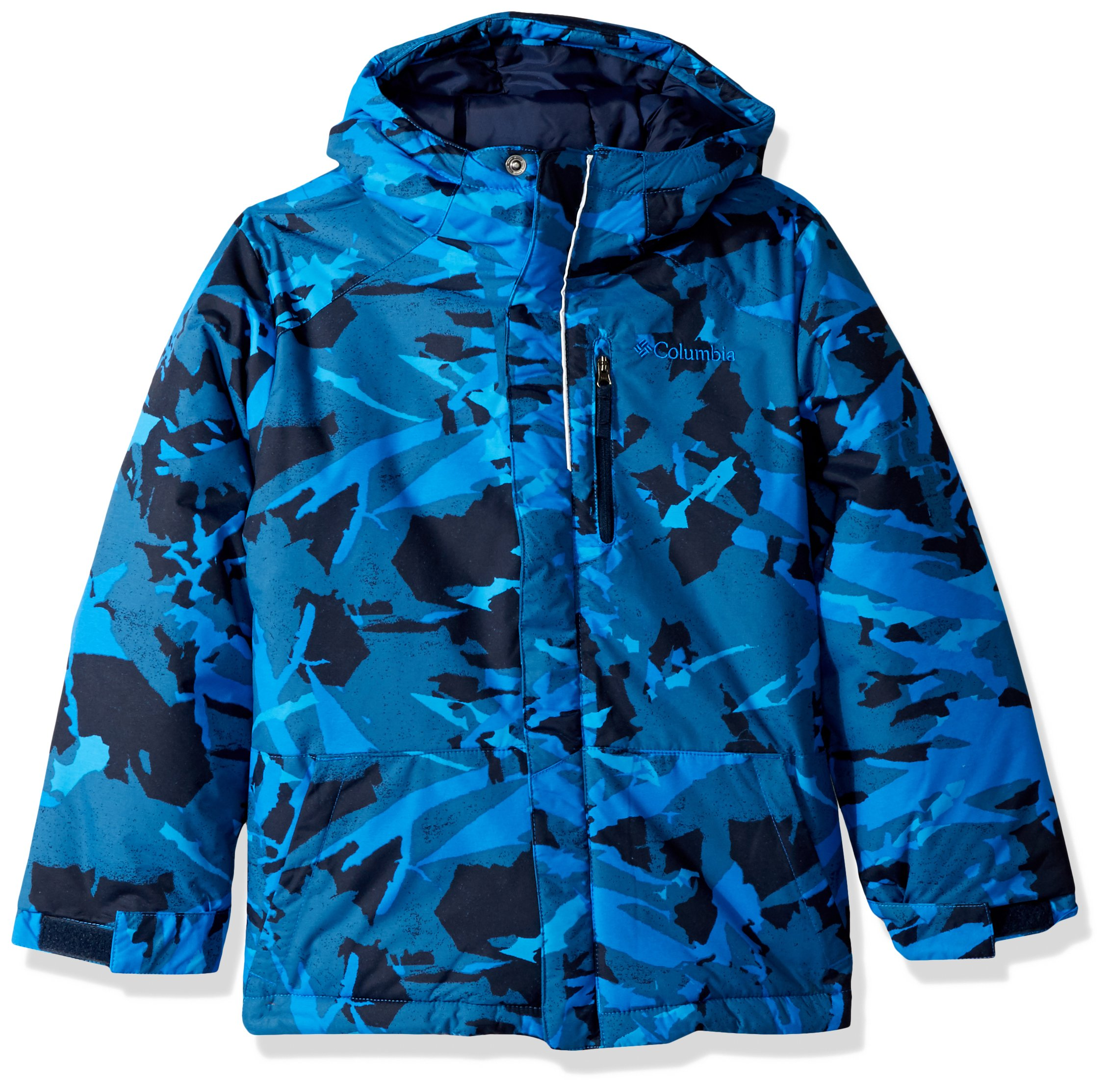 Columbia Boys' Toddler' Lightning Lift Jacket, Super Blue Woodsy Camo, 2T
