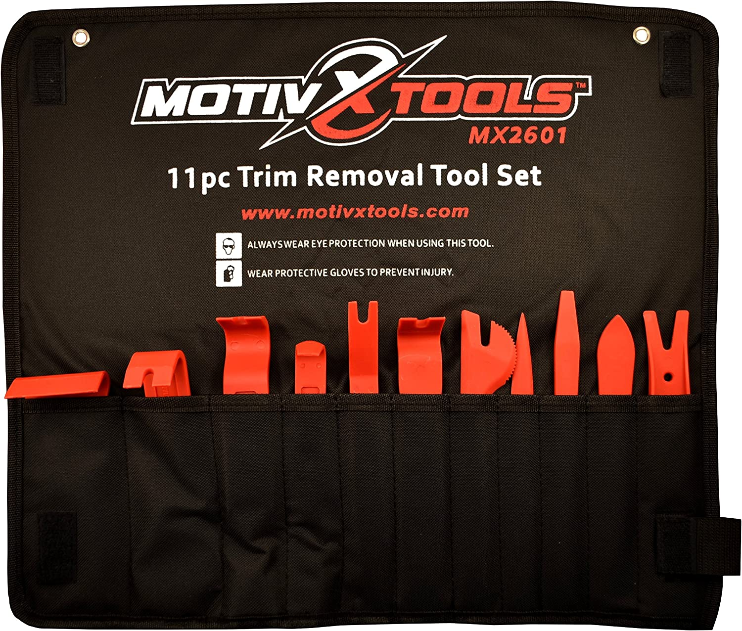 Motivx Tools 11pc Car Trim and Door Panel Removal Kit - Safely...