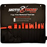 Motivx Tools 11pc Trim Removal Tool Set - Trim and Panel Removal Tools for Automotive, Marine, and Aircraft Use That Won't Scratch or Mar Delicate Surfaces Like Metal Tools