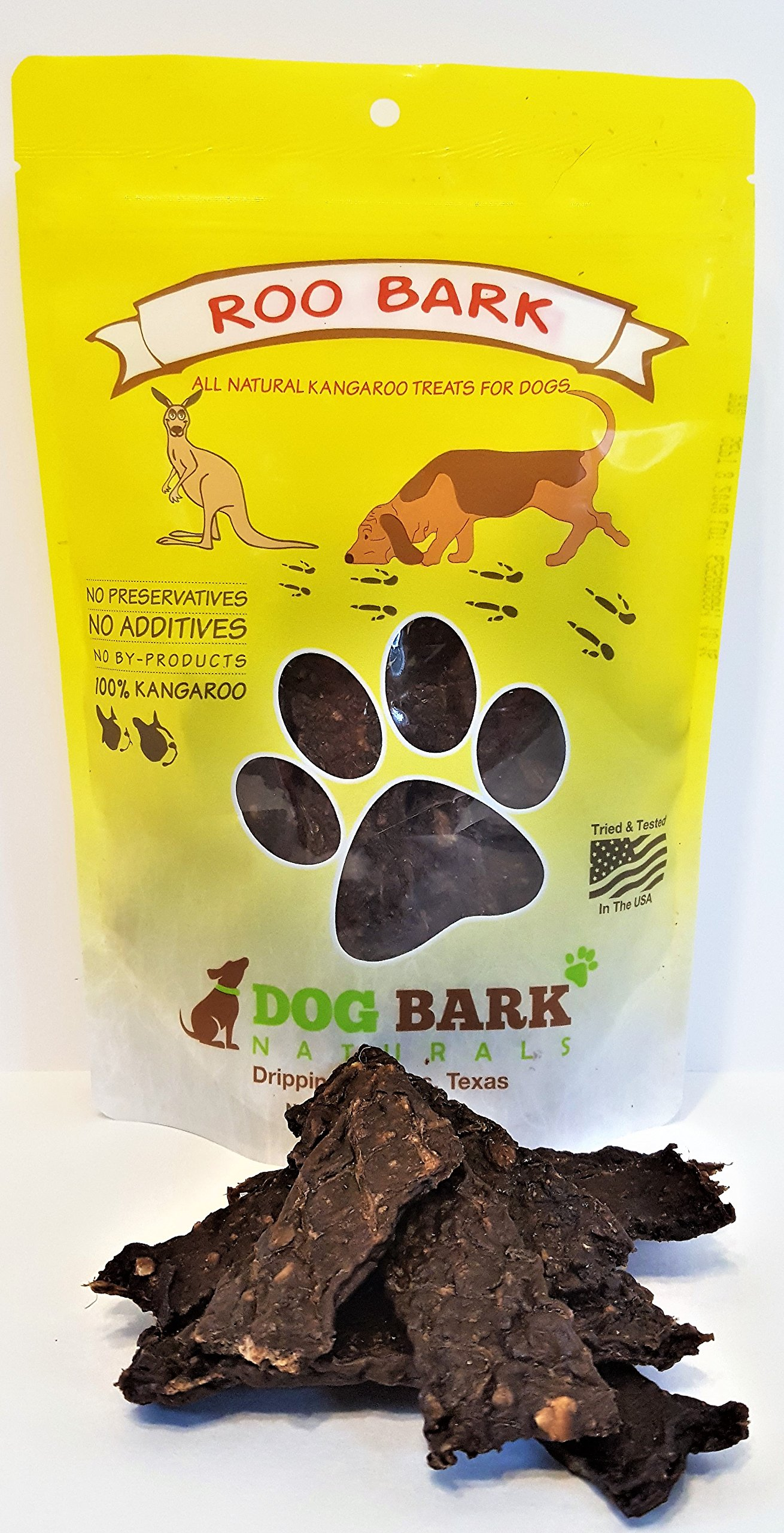 Roo Bark - As Natural As It Gets - 1 Ingredient!!! Responsibly Source In Australia and Made USA, Portion Of All Proceeds Donated To Dogs In Need