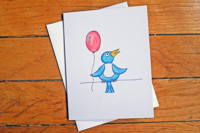 Amazon Funnycute Birthday Card A Little Bird Told Me Cute