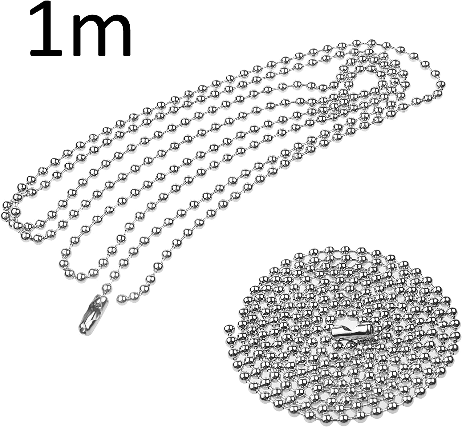13.6 inches 2x 1M Extension Pull Chains and 4x Extra Connectors Kare and Kind Light and Fan Pull Chain Gift Set 12.5 inches 1x Light Pull Chain 2 styles - Copper Plated 1x Fan Pull Chain