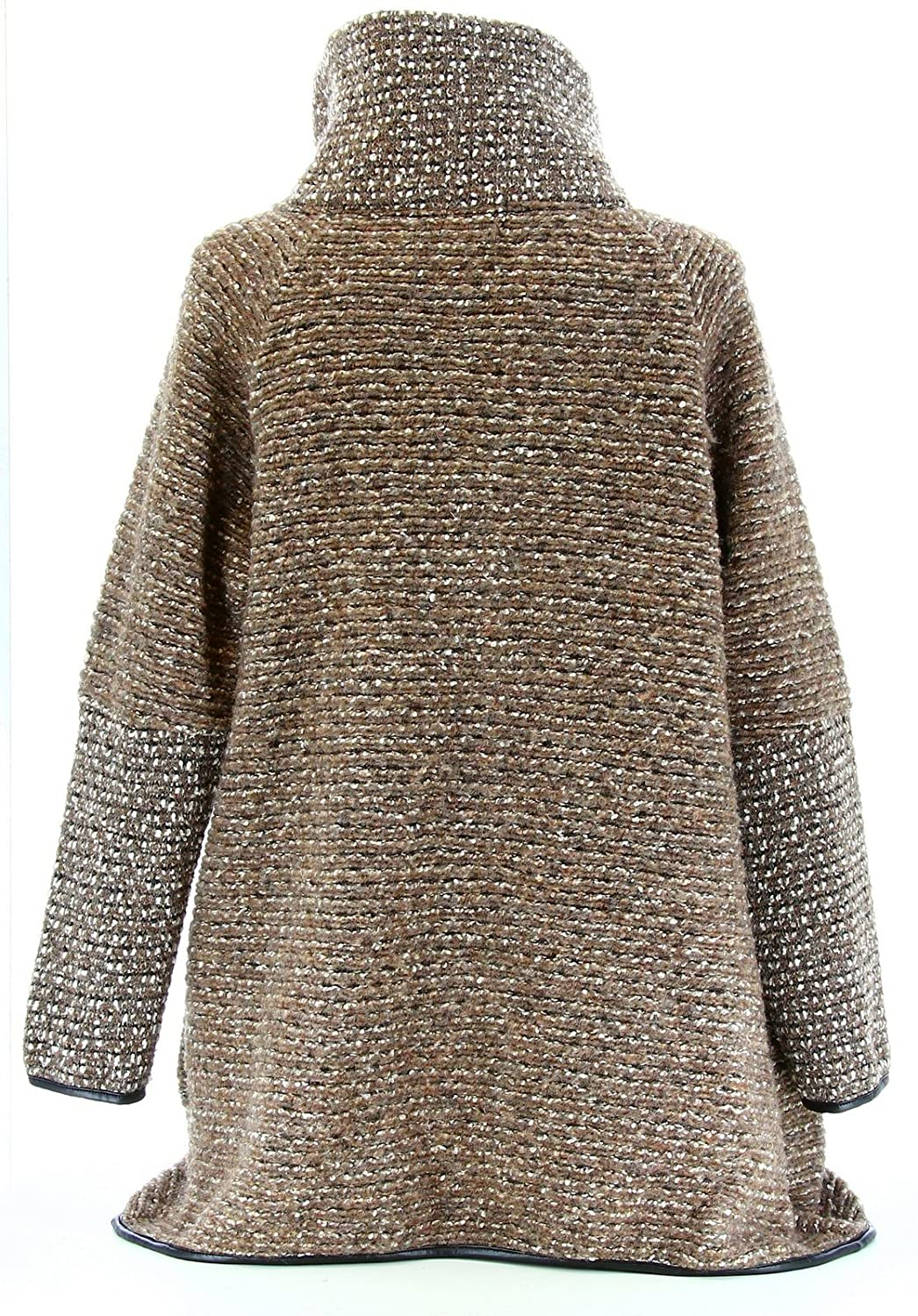 33a5a2d4d03a Charleselie94® - Manteau Cape Laine Bouillie Hiver Grande Taille Taupe  Violetta Taupe